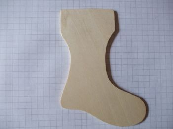 Birch Ply Wooden Stocking Wood Craft Shape